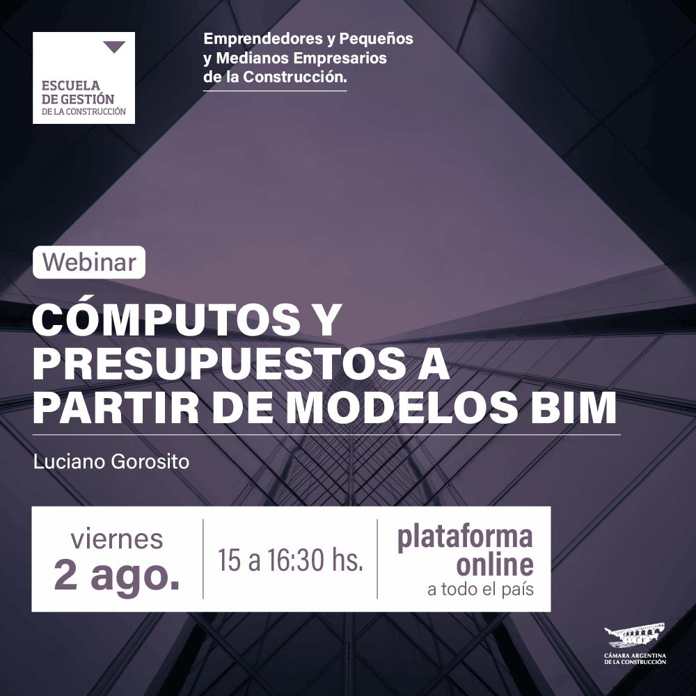 Camarco 2019: Webinar cómputos BIM