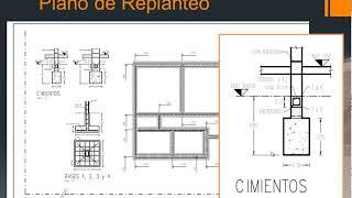 Plano de replanteo de cimientos